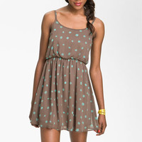 Lush Print Blouson Dress (Juniors) | Nordstrom