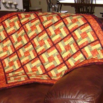 Festive Fall Medium Quilted Wall Hanging/Lap Robe