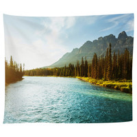 Castle Mountain Tapestry