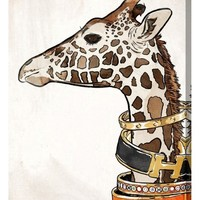 Oliver Gal Luxurious Giraffe Canvas Wall Art | Nordstrom