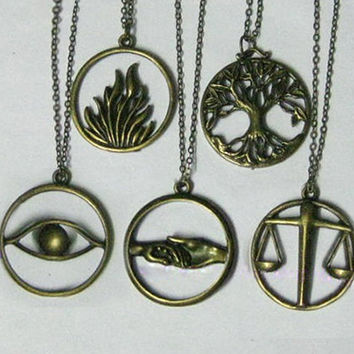Divergent factions necklace - Erudite,Candor,Amity,Dauntless,Abnegati