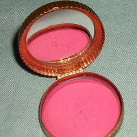 Vintage Evening In Paris Bourjois Gold-toned Winged Design Rouge Metal Compact
