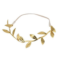 Hot! Bronzing Leaves Women Headband Elastics For Women Hair Accessories Headband Gold Sliver #425 GS