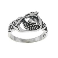 Celtic Dragon Sterling Silver Ring Size 7
