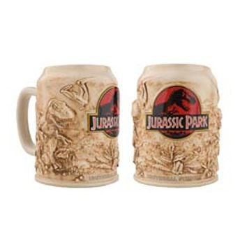 universal studios jurassic park large stein beer ceramic coffee mug new