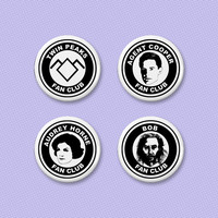 Twin Peaks fan club button set