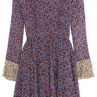 Topshop Unique - Ottoline floral-print silk-chiffon mini dress