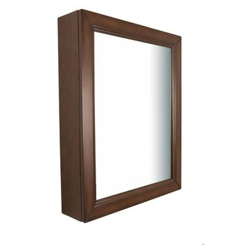 24 in Mirror cabinet-wood-sable walnut