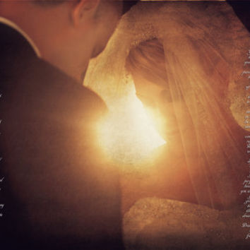 Wedding Vow Bride and Groom  Wall Decor Photo Art Custom Photo Editing