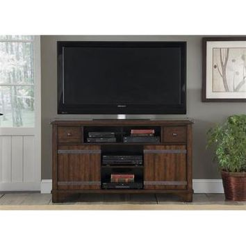 Liberty Furniture Aspen Skies TV Console in Russt Brown Finish
