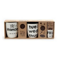 Days of the Week Triple Mug Set