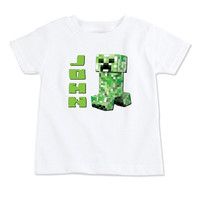T-Shirt-Birthday T-Shirt-Party T-Shirt-Personalized-Custom T-Shirts- Party Favor-Party Decor-Minecraft