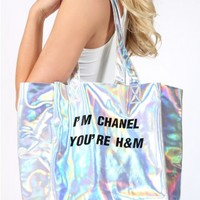 O-Mighty I'm Chanel You're H&M Tote
