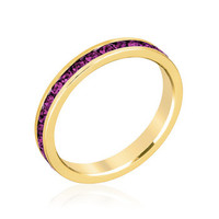 Stylish Stackables with Purple Crystal Ring