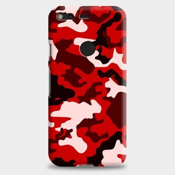 Camouflage Red Logo Google Pixel 2 Case
