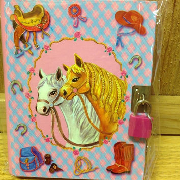 Western Charms Horse Diary Journal for Youth