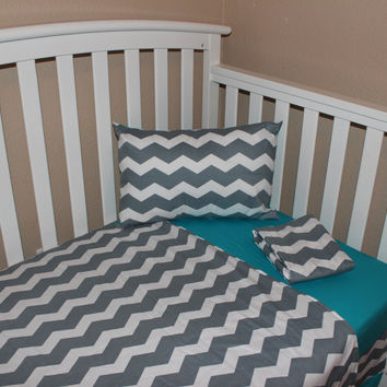 Chevron 5 Piece Crib Bedding Set