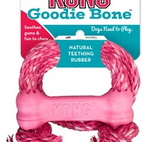 KONG Puppy Goodie Bone with Rope Dog Toy, Color Varies, X-Small