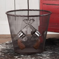 Wire Mesh Pistol Wastebasket - Wastebaskets - Home Decor - Home