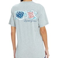 Lauren James Americana Pearl and Sunnies Tee | Dillards