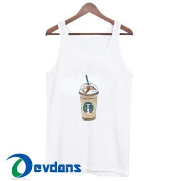 Cartoon Starbucks Drink Tank Top Men And Women Size S to 3XL