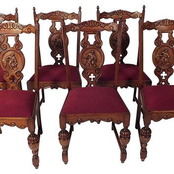 French  Dining Chairs, Set of 6