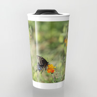 Black Swallowtail In The Garden Travel Mug by Theresa Campbell D'August Art