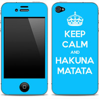 Keep Calm and Hakuna Matata iPhone 4/4s Skin FREE SHIPPING