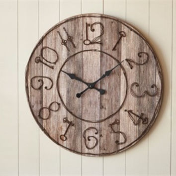Rustic Wood primitive wall clock