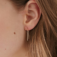 Stud and Threader Earring Set