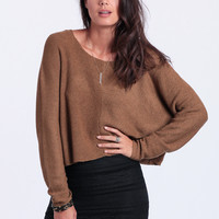 Autumn Leaves Oversized Cropped Sweater