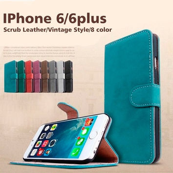 Wallet Phone Case For iPhone6 plus/6/5s/5/4s/4 Wallet Style Mobile Bag PU Leather Flip Cover With Stand and Card Holder = 1958404420
