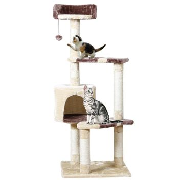 Domestic Delivery Cat Climbing Frame Pet Furniture Cat Toy House Hanging Ball Wood Bed Toy Pet Cat Jumping Toy Scratching Post
