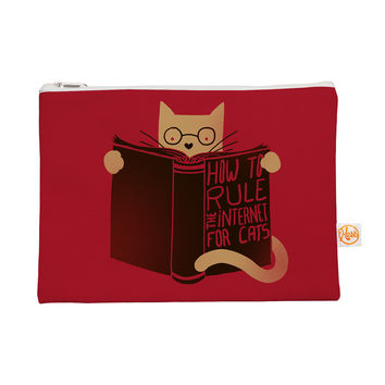 "Tobe Fonseca ""How to Rule the Internet For Cats"" Red Typography Everything Bag"