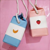 Kawaii Strawberry Milk Bag