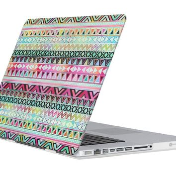 "ULAK Tribal Design Rubberized Matte Solid Hard Case Cover for Apple Macbook Pro 13 inch 13"" (B Aztec Tribal)"