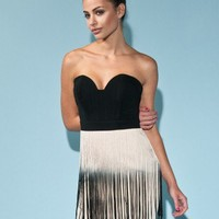 Lipsy Bandeau Fringe Dress