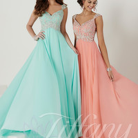 Embroidered Lace Bodice Tiffany Designs Prom Dress 16136