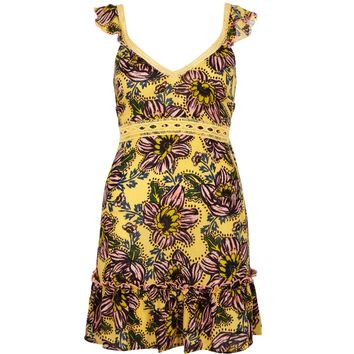 Yellow floral bow back beach dress - Kaftans & Cover-Ups - Swimwear & Beachwear - women