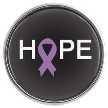 Cancer Purple Ribbon For Hope for All Cancer Types Fashion Snap Jewelry  Snap Charm