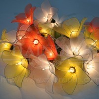 ORANGE SUN TONE FLOWER STRING FLORAL,PATIO,FAIRY,HOME ROOM DECOR,WEDDING LIGHTS