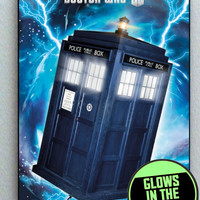 Dr. Doctor Who Tardis Glow In The Dark Framed Cool Blacklight Mini Movie Poster