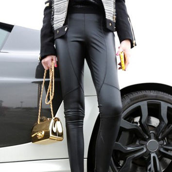 All-Match Solid Color Fashion Elastic Skinny Leggings For Women