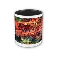 Relax Now: Modern Art 45.5 Mugs from Zazzle.com