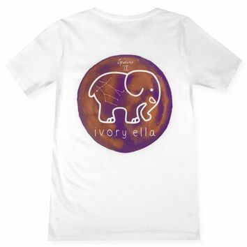 Ella Fit White Gemini Tee