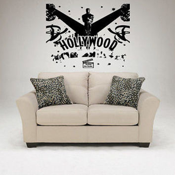 Hollywood Wall Decal Hollywood Sticker Movie Star Room Living Room Decor 3737