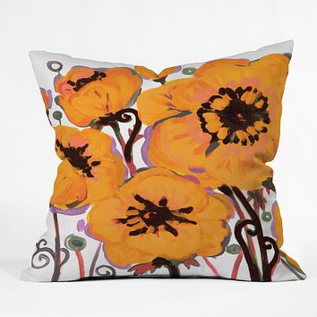 Natasha Wescoat Anemone Gold Throw Pillow