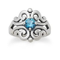 Spanish Lace Ring with Blue Topaz | James Avery