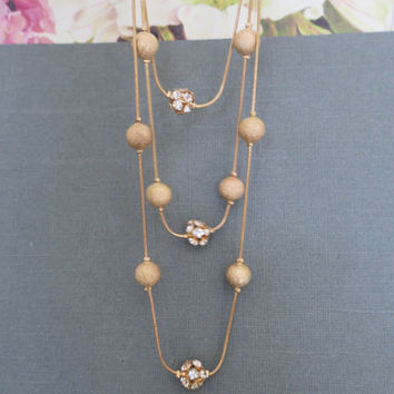 Long Necklaces Gold, Costume Jewelry Style Necklaces, Gold Layered Necklace