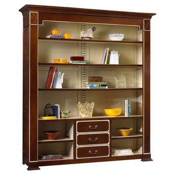 Plaza Open Bookcase, Russet/Cream, Bookcases & Bookshelves